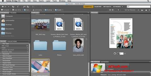 Screenshot Adobe Bridge per Windows 7