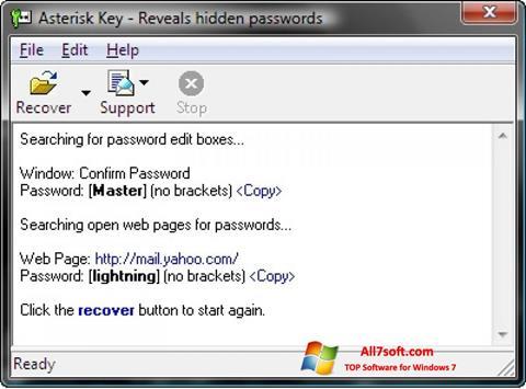 Screenshot Asterisk Key per Windows 7