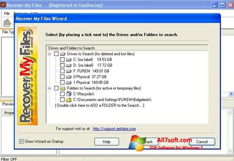 Screenshot Recover My Files per Windows 7