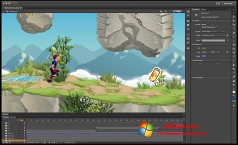 Screenshot Adobe Flash Professional per Windows 7