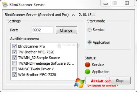 Screenshot BlindScanner per Windows 7