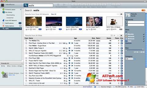 Screenshot Vuze per Windows 7
