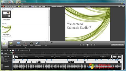Screenshot Camtasia Studio per Windows 7
