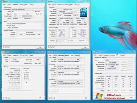 Screenshot CPU-Z per Windows 7