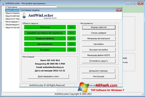 Screenshot AntiWinLocker per Windows 7