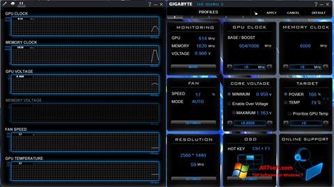 Screenshot GIGABYTE OC Guru per Windows 7
