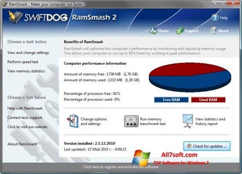 Screenshot RamSmash per Windows 7