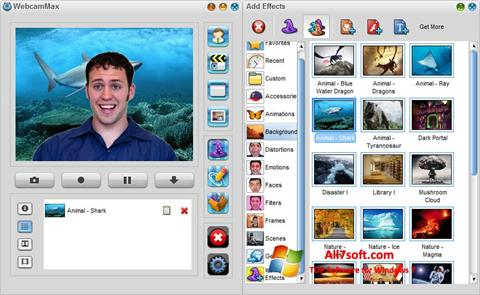 Screenshot WebcamMax per Windows 7
