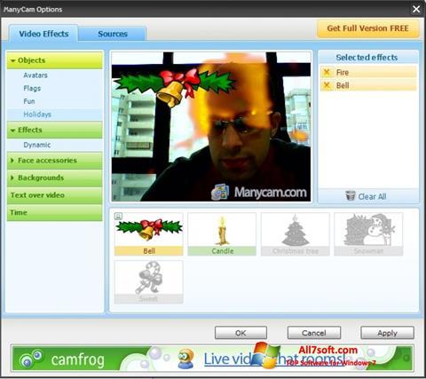 Screenshot ManyCam per Windows 7