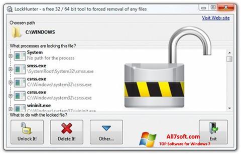 Screenshot LockHunter per Windows 7