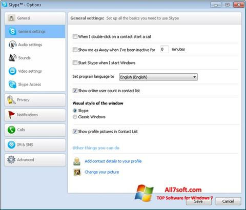 Screenshot Skype Setup Full per Windows 7