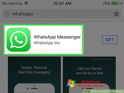 Screenshot WhatsApp per Windows 7
