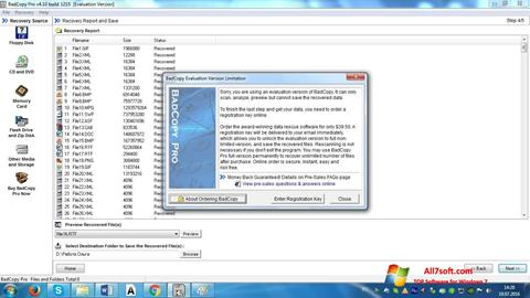 Screenshot BadCopy Pro per Windows 7