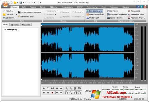 Screenshot AVS Audio Editor per Windows 7