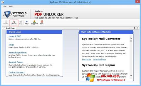 Screenshot PDF Unlocker per Windows 7