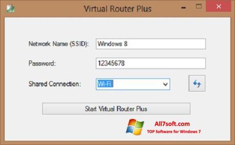 Screenshot Virtual Router Plus per Windows 7