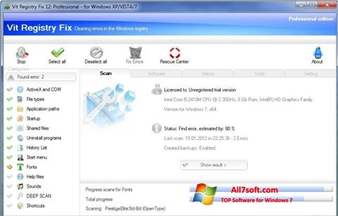 Screenshot Vit Registry Fix per Windows 7