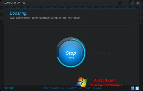 Screenshot JetBoost per Windows 7