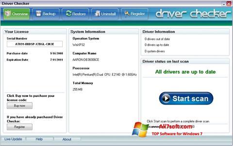 Screenshot Driver Checker per Windows 7