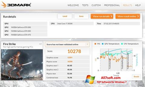 Screenshot 3DMark per Windows 7