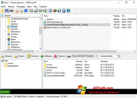 Screenshot CDBurnerXP per Windows 7
