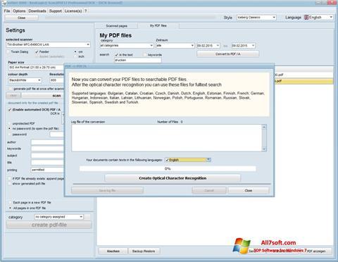 Screenshot Scan2PDF per Windows 7