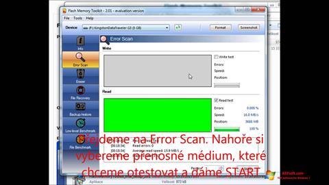 Screenshot Flash Memory Toolkit per Windows 7