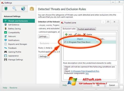 Screenshot Time Boss per Windows 7
