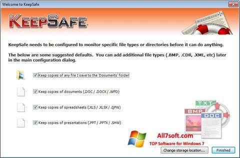 Screenshot KeepSafe per Windows 7