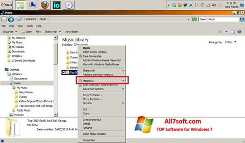 Screenshot MagicISO per Windows 7