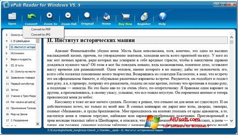Screenshot Epub Reader per Windows 7