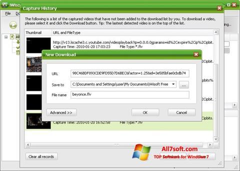 Screenshot Free Video Catcher per Windows 7