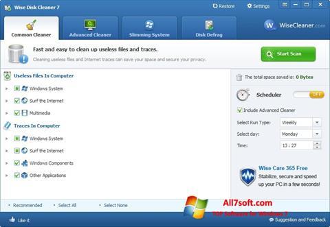 Screenshot Wise Disk Cleaner per Windows 7