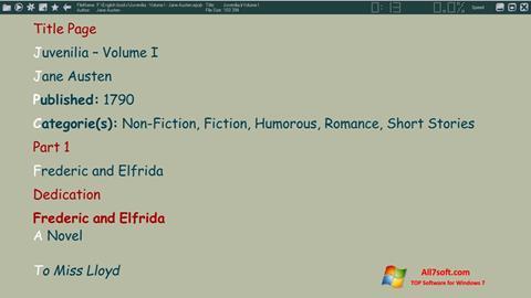 Screenshot ICE Book Reader per Windows 7