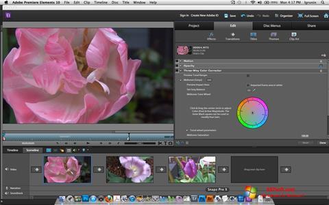 Screenshot Adobe Premiere Elements per Windows 7
