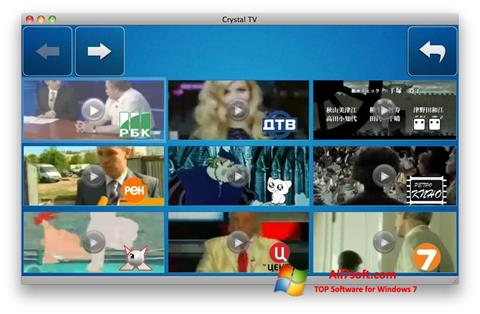 Screenshot Crystal TV per Windows 7