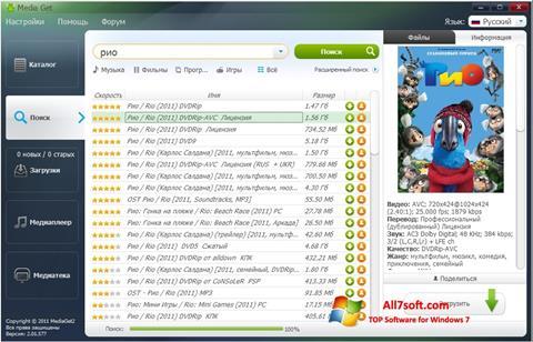 Screenshot MediaGet per Windows 7