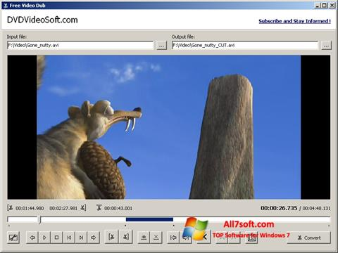 Screenshot Free Video Dub per Windows 7