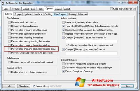Screenshot Ad Muncher per Windows 7