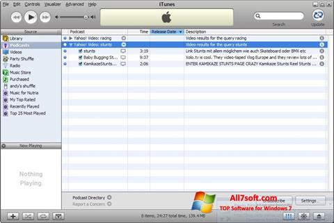 Screenshot iTunes per Windows 7