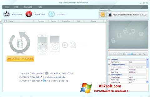 Screenshot Any Video Converter per Windows 7