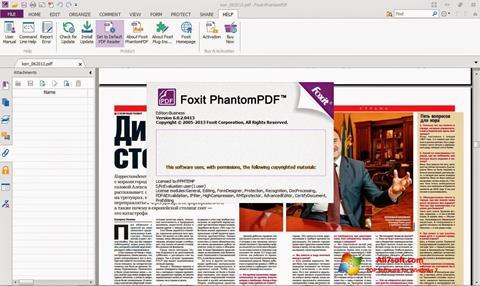 Screenshot Foxit Phantom per Windows 7