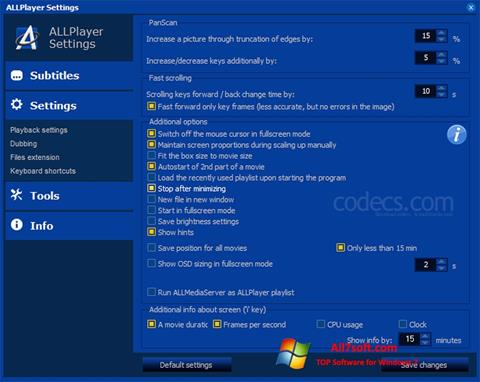 Screenshot ALLPlayer per Windows 7