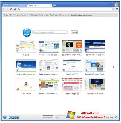 Screenshot Superbird per Windows 7