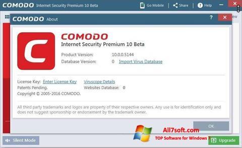 Screenshot Comodo per Windows 7