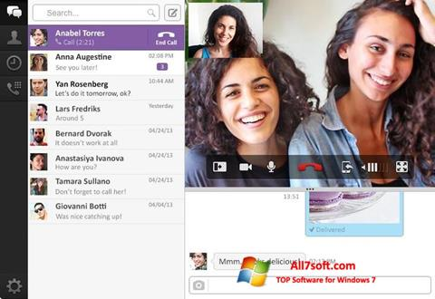 Screenshot Viber PC per Windows 7