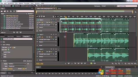 Screenshot Adobe Audition CC per Windows 7