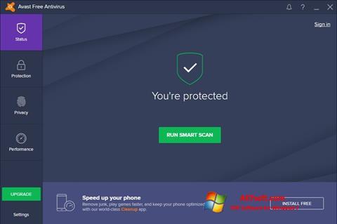 Screenshot Avast Free Antivirus per Windows 7