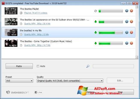 Screenshot Free YouTube Download per Windows 7