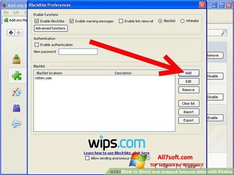 Screenshot uBlock per Windows 7
